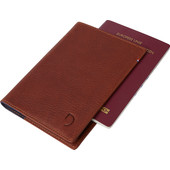Decoded Leather Passport Holder Brown