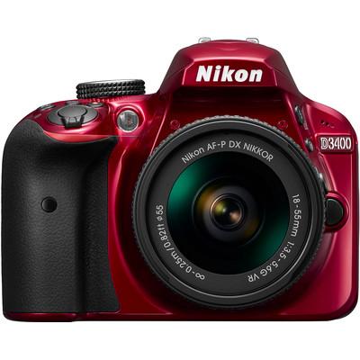 Image of Nikon D3400 rood + AF-P 18-55mm VR