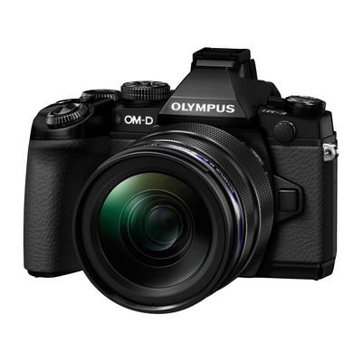 Image of Olympus E-M1 systeemcamera Zwart + 12-40mm