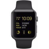 Apple Watch Sport 38mm Spacegrijs/Zwarte Sportband