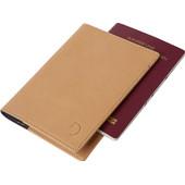 Decoded Leather Passport Holder Sahara