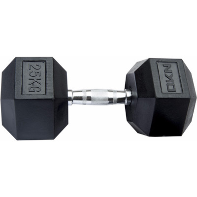 Image of DKN Rubber Hex Dumbbell 25 kg