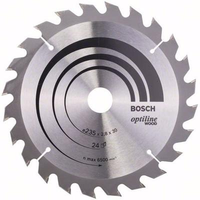 Image of Bosch Cirkelzaagblad Optiline Wood 235x2,8x30 24T