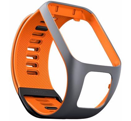 TomTom Spark 3/Runner 3 Horlogebandje Grijs/Oranje - L