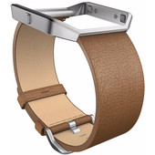 Fitbit Blaze Polsband Leather Camel - S