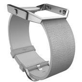 Fitbit Blaze Polsband Leather Mist Grey - S