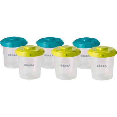 Image of Beaba Vershouddoosjes 6 stuks 200 ml Neon Blauw
