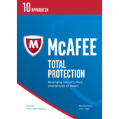 McAfee Total Protection 2017 1 jaar abonnement/ 10 apparaten