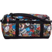 The North Face Base Camp Duffel TNF Red Sticker Bomb Print