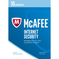 McAfee Internet Security 2017 1 jaar abonnement/10 apparaten