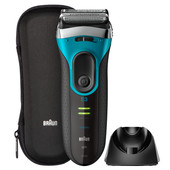 Braun Series 3 3080s Black/Eloxal Blue