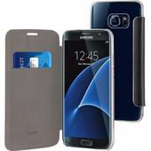 Muvit Folio Stand Samsung Galaxy S7 Edge Book Case Zwart