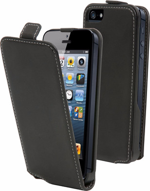 Muvit Folio Apple iPhone 5/5S/SE Flip Case Zwart