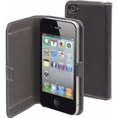 Muvit Folio Apple iPhone 4/4S Book Case Zwart