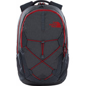 The North Face Jester Asphalt Grey Dark Heather/Cardinal Red