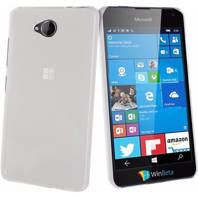 Muvit Crystal Microsoft Lumia 650 Back Cover Transparant
