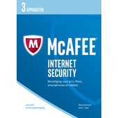 McAfee Internet Security 2017 1 jaar abonnement /3 apparaten