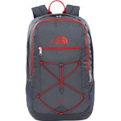 The North Face Rodey Asphalt Grey Dark Heather/Cardinal Red