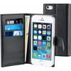 Muvit Luxe Wallet Apple iPhone 5/5S/SE Book Case Zwart