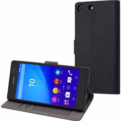 Muvit Wallet Case Sony Xperia M5 Zwart