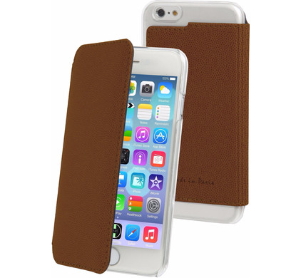 Muvit Luxe Wallet Apple iPhone 6 Plus/6s Plus Book Case Bruin