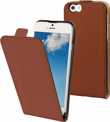 Muvit Folio Apple iPhone 6/6s Flip Case Bruin