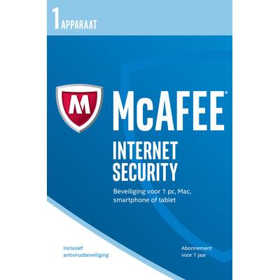 McAfee Internet Security 2017 1 jaar abonnement /1 gebruiker