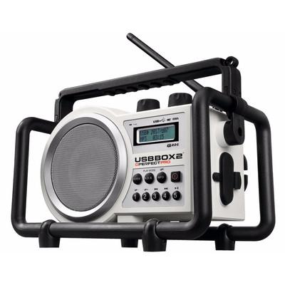 Image of FM Bouwradio PerfectPro USB Box bouwplaatsradio AUX, SD, FM, USB Spatwaterbestendig, Stofdicht, Stofvast Wit