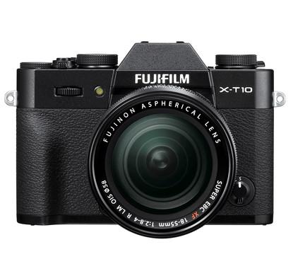 Fujifilm X-T10 + 18-55 mm zwart