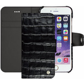 Noreve Tradition B Crocodile Leather Case Apple iPhone 7 Zwart