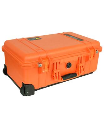 Pelicase Trolley 1510 Orange met plukschuim