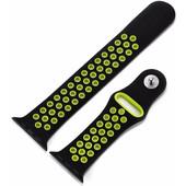 Just in Case Sportband Apple Watch 42mm Zwart/Groen