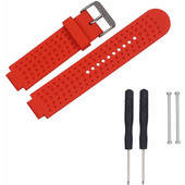 Just in Case Siliconen Sportband Garmin Forerunner Rood