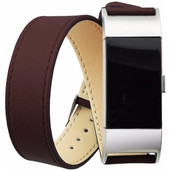 Just in Case Lederen Polsband Fitbit Charge 2 Bruin