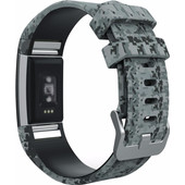 Just in Case Sport Polsband Fitbit Charge 2 Army Grey