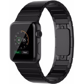 Just in Case Metalen Polsband Apple Watch 42mm Zwart
