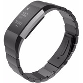 Just in Case Stainless Steel Polsband Fitbit Charge 2 Zwart
