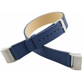 Just in Case Lederen Polsband Fitbit Charge 2 Blauw