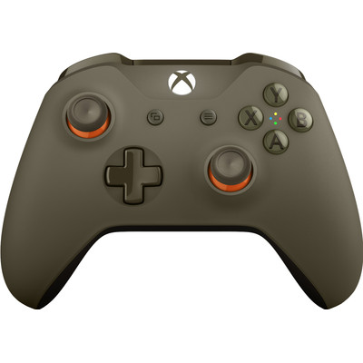 Image of Microsoft Wireless Controller voor Xbox One (groen-oranje)