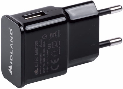 Midland BT Pro Wall Adaptor USB 5V-1A