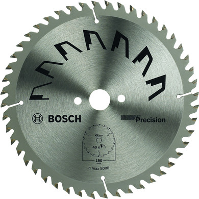 Bosch Zaagblad Precision 190x20x2mm T48
