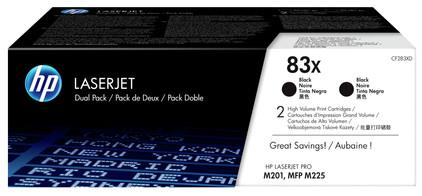 HP 83X Toner Zwart XL Duo Pack (CF283XD)