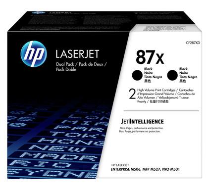 HP 87X Toner Zwart XL Duo Pack (CF287XD)