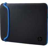 """HP 14"""" Chroma Reversible Sleeve Zwart/Blauw"""