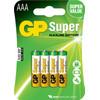 GP Super Alkaline AAA Micro penlite, blister 4