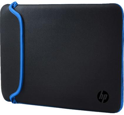 """HP 15,6"""" Neoprene Sleeve Zwart/Blauw"""