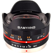 Samyang 7.5mm f/3.5 Micro Four Thirds zwart