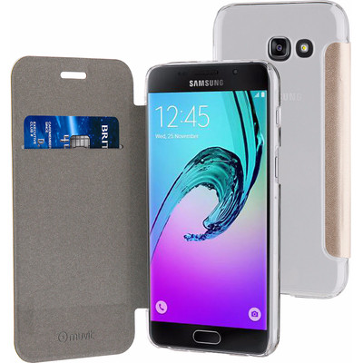 Muvit Folio Samsung Galaxy A5 (2017) Book Case Goud