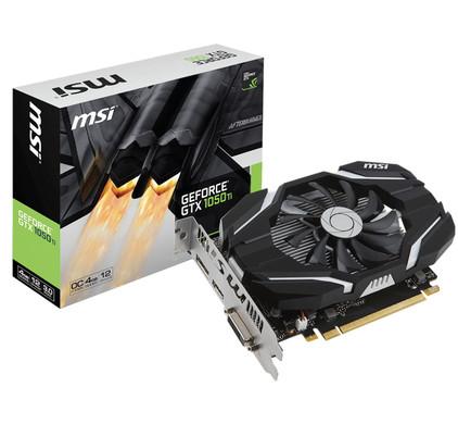 MSI GeForce GTX 1050 Ti 4G OC