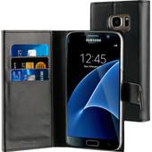 Muvit Wallet Folio Samsung Galaxy S7 Book Case Zwart